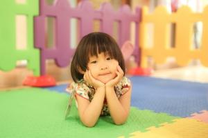 expectant pensive little girl